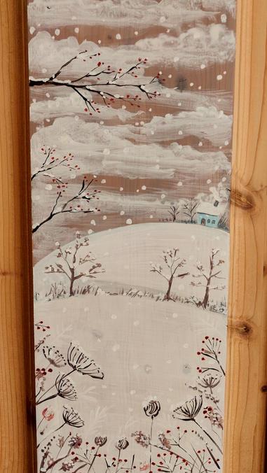Paesaggio. Casetta nella neve