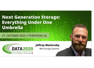 Jetzt anmelden: Konferenz Data Storage & Analytics am 27. Oktober 2020, Seedamm Plaza, Pfäffikon