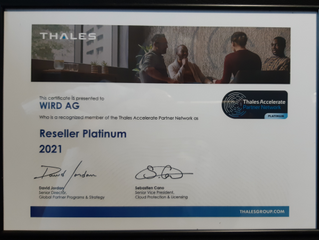 WIRD honoured with Thales Platinum Reseller Award