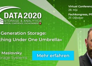 Save the date: Online Konferenz Data Storage & Analytics am 28. Mai 2020