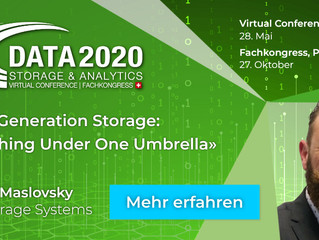 Save the date: Online Konferenz Data Storage & Analytics am 28. Mai 2020