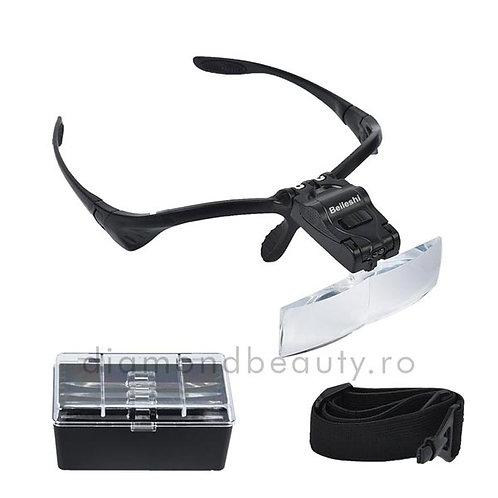 Ochelari cu lupe de marire interschimbabile si luminare LED
