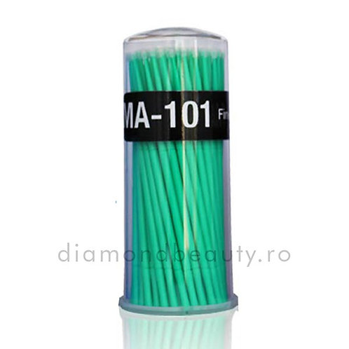 Periute Micro Brush cu Varf de Microfibra - Verde Set 100 buc
