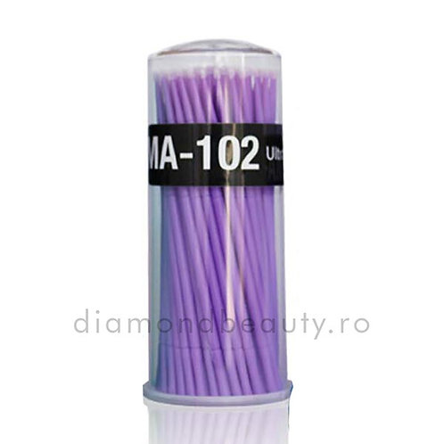 Periute Micro Brush cu Varf de Microfibra - Mov Set 100 buc