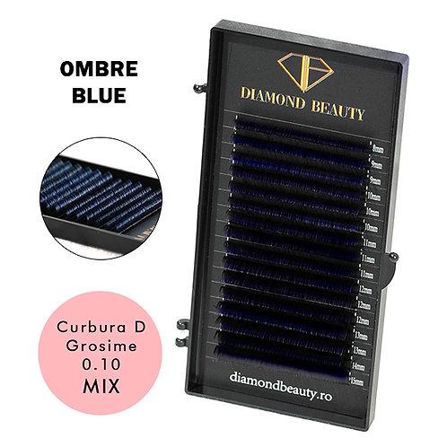 EXTENSII DE GENE OMBRE BLUE - 16 LINII CURBURA D GROSIME 0.10 MIX