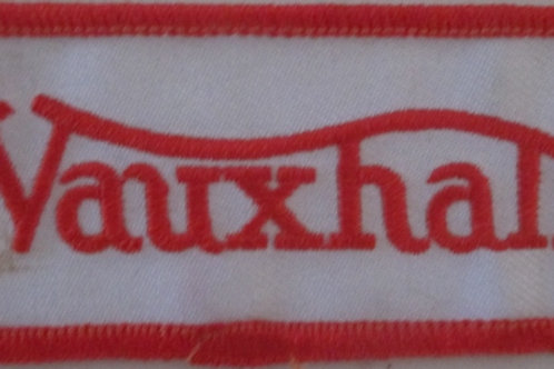 Patch - Vauxhall White & Red (90mmx40mm)