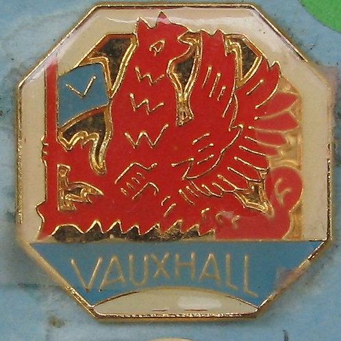 Badge - Vauxhall Octagon White (25mm x 25mm