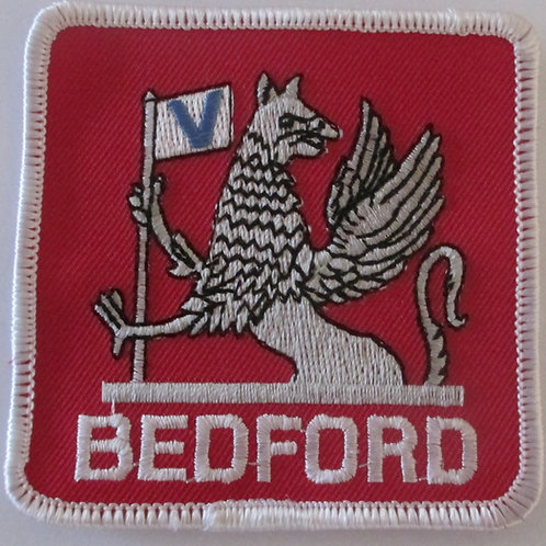 Patch - Bedford Red & White (75mm Square)