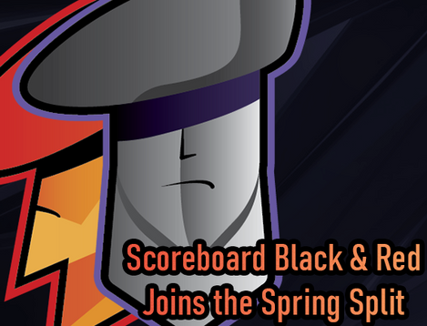 Scoreboard Black & Red Team