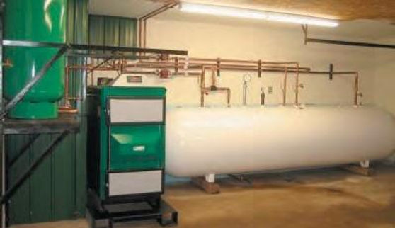 Wood Gasification Boiler Installation Example