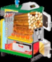 Wood Gasification Boiler Cutaway