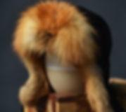 chapeau fourrure aviateur renard roux