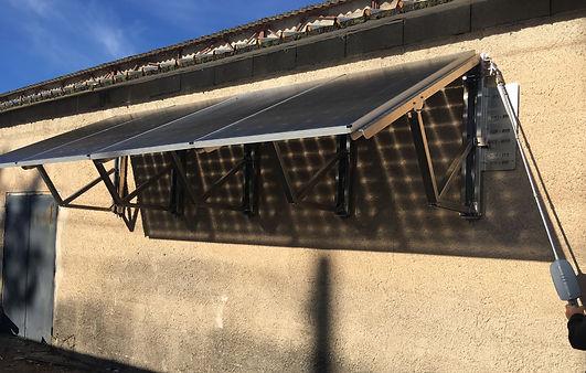 auvent solaire orientable