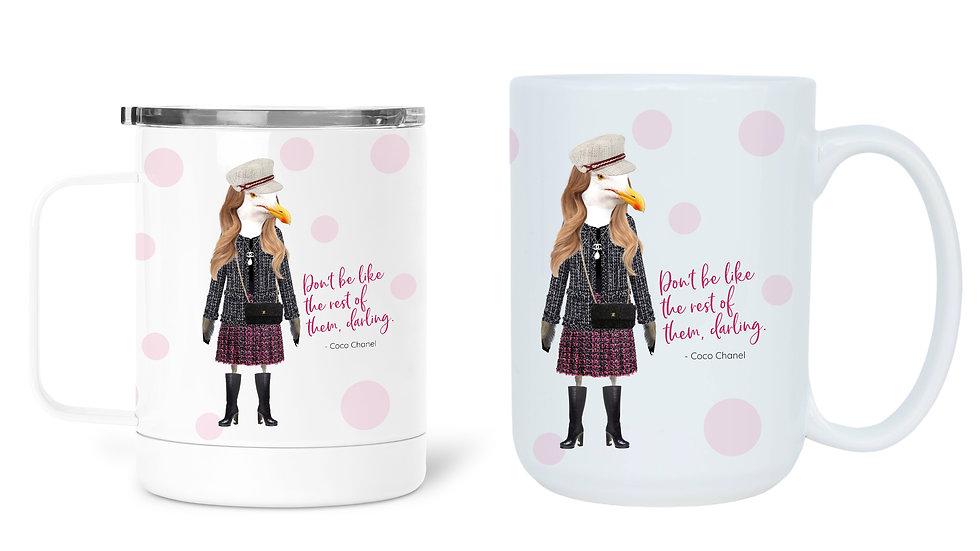 Chanel quote mug