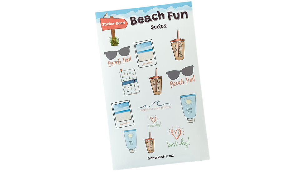 Beach Lover Planner Stickers