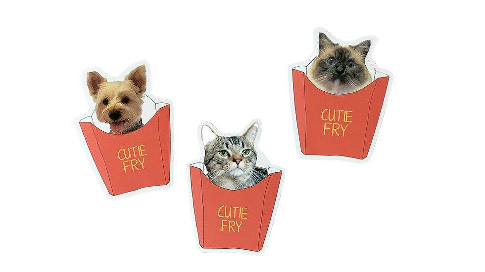 Custom Cutie Fry Pet Sticker