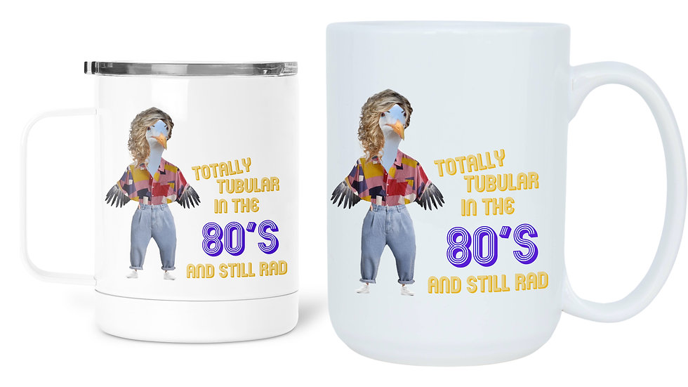 1980's Fashion Slang Birthday Mug