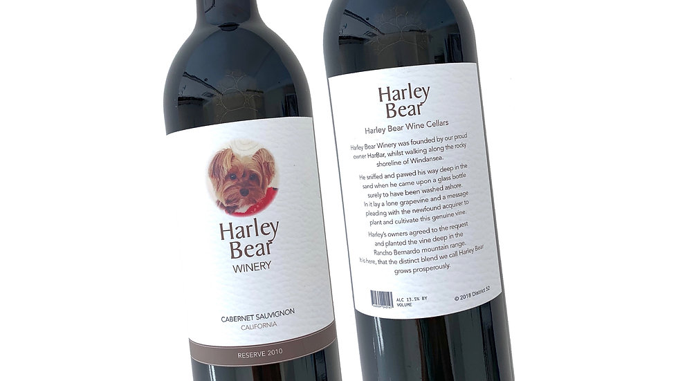 Harley Bear Label