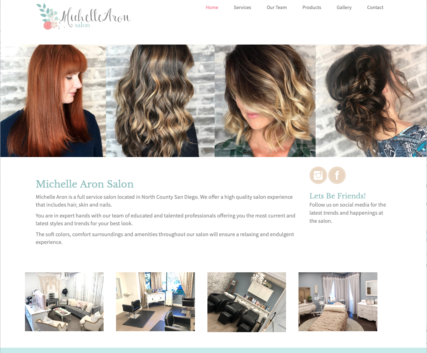 Michelle Aron Salon Website