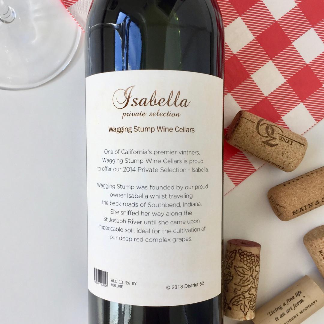 Isabella Custom Pet Wine Label