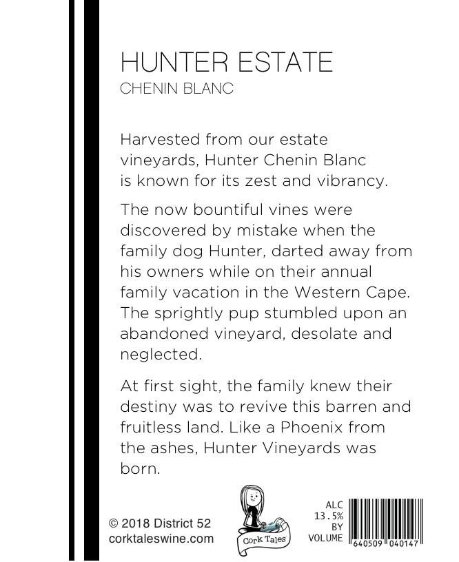 Hunter Pet Wine Label