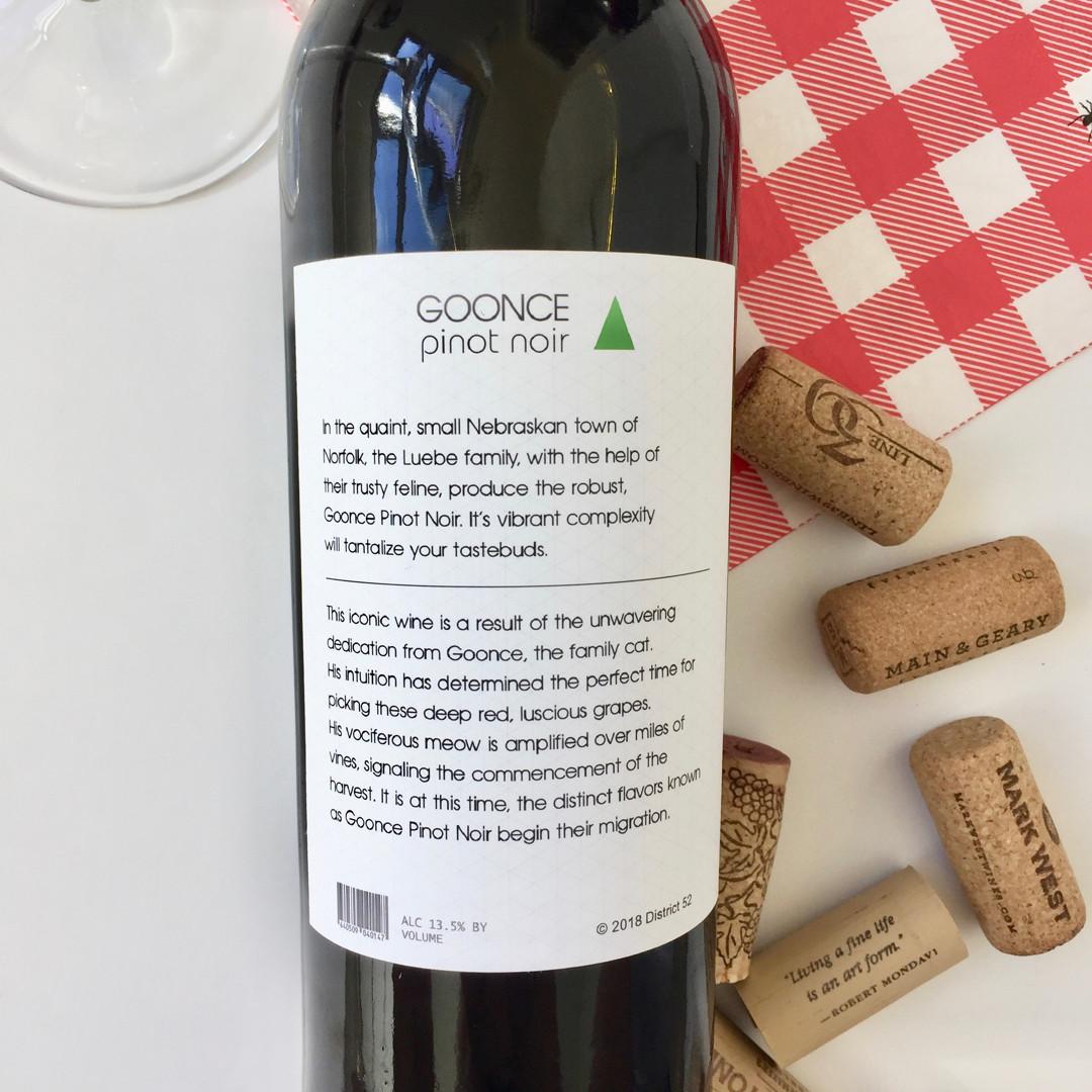 Goonce Pet Wine Label