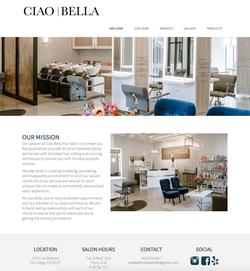 Ciao Bella Salon Website