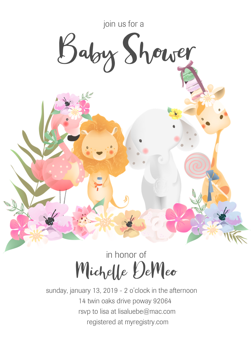 Safari Baby Shower Invite