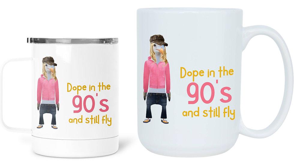 1990's Fashion Slang Birthday Mug