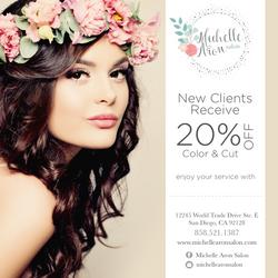Michelle Aron Salon Flyer