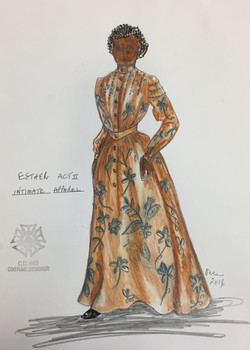 Esther's Act II Dress Rendering