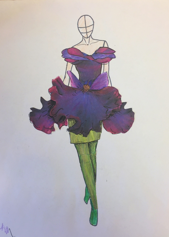 Iris Dress Rendering