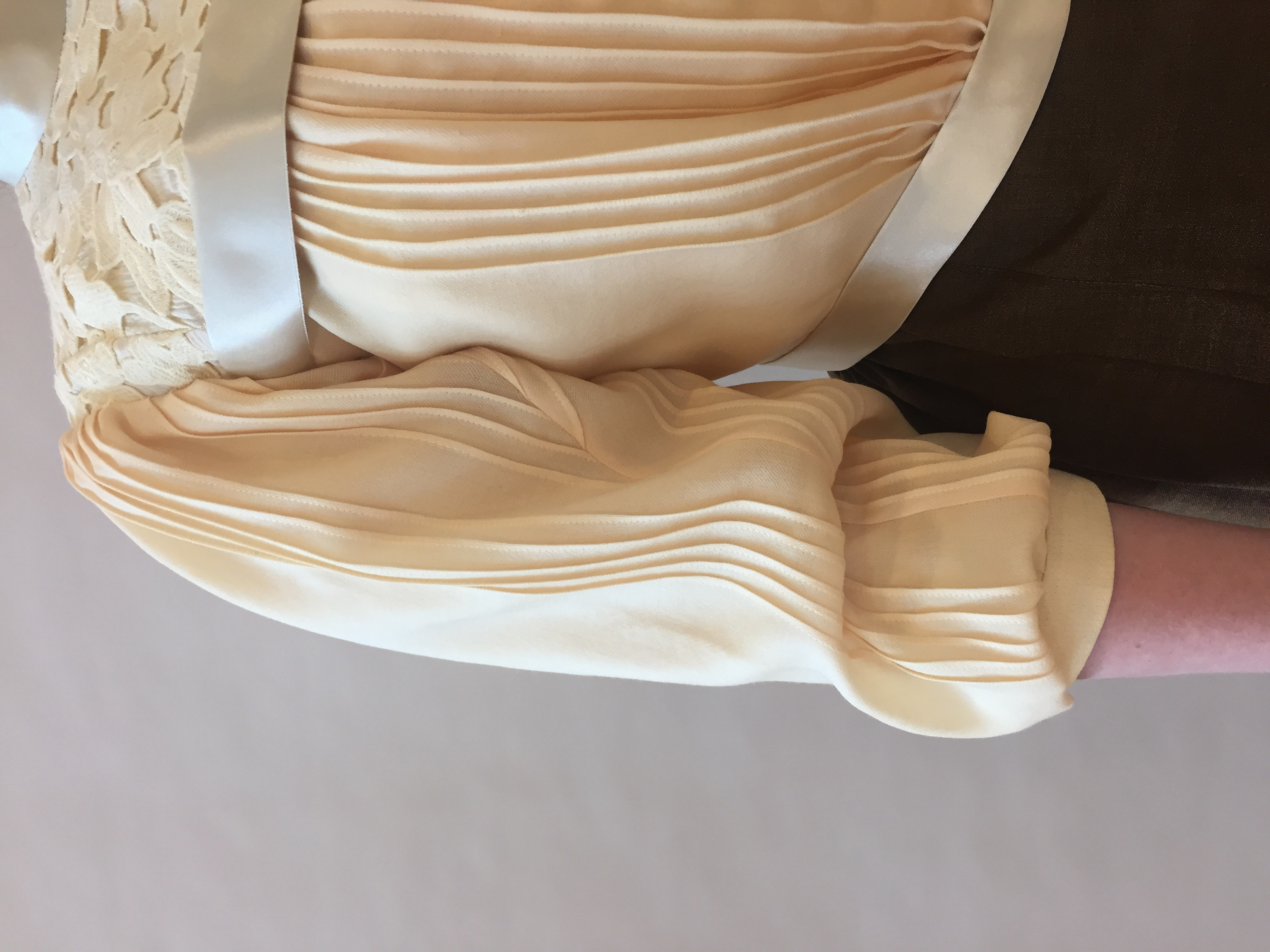 Front Sleeve Seam with Pin Tucks