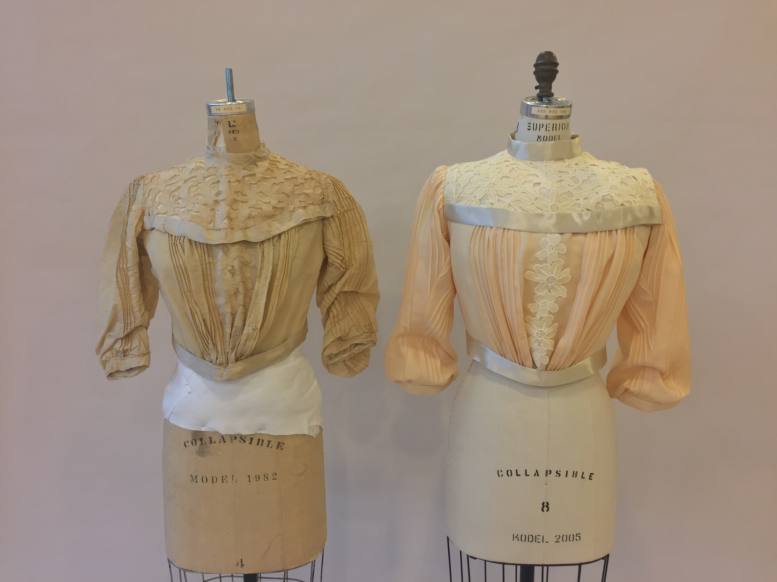 Original Bodice and Reproduction