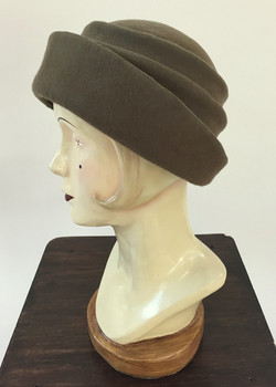 Hand Draped Wool Blocked Hat
