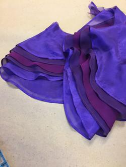Silk Chiffon Sleeve Flounces