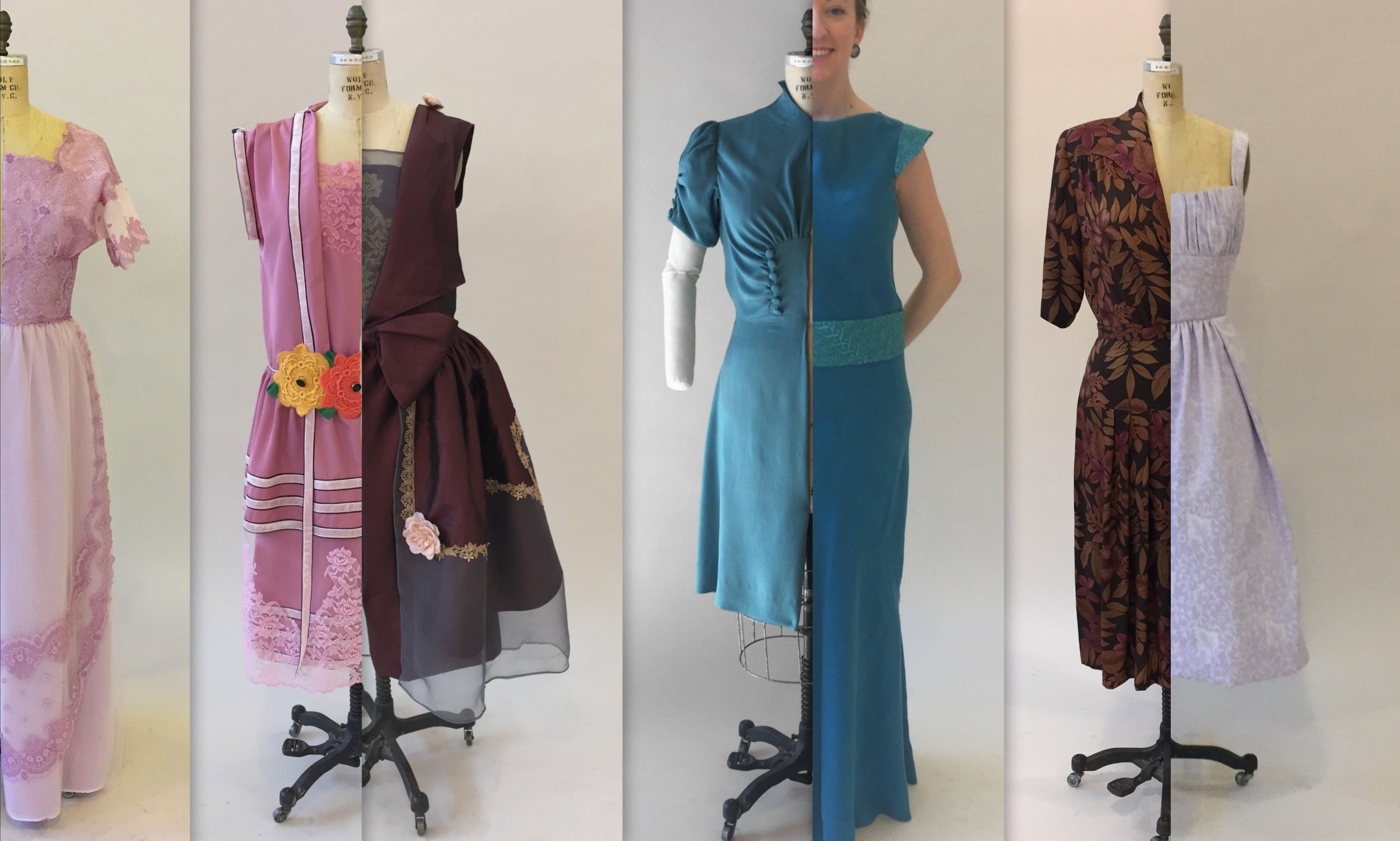 1910 - 1950s Day and Evening Dresses