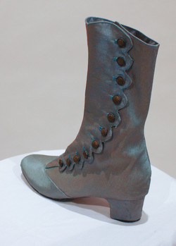 Re-covered Shoes turned into a Boot