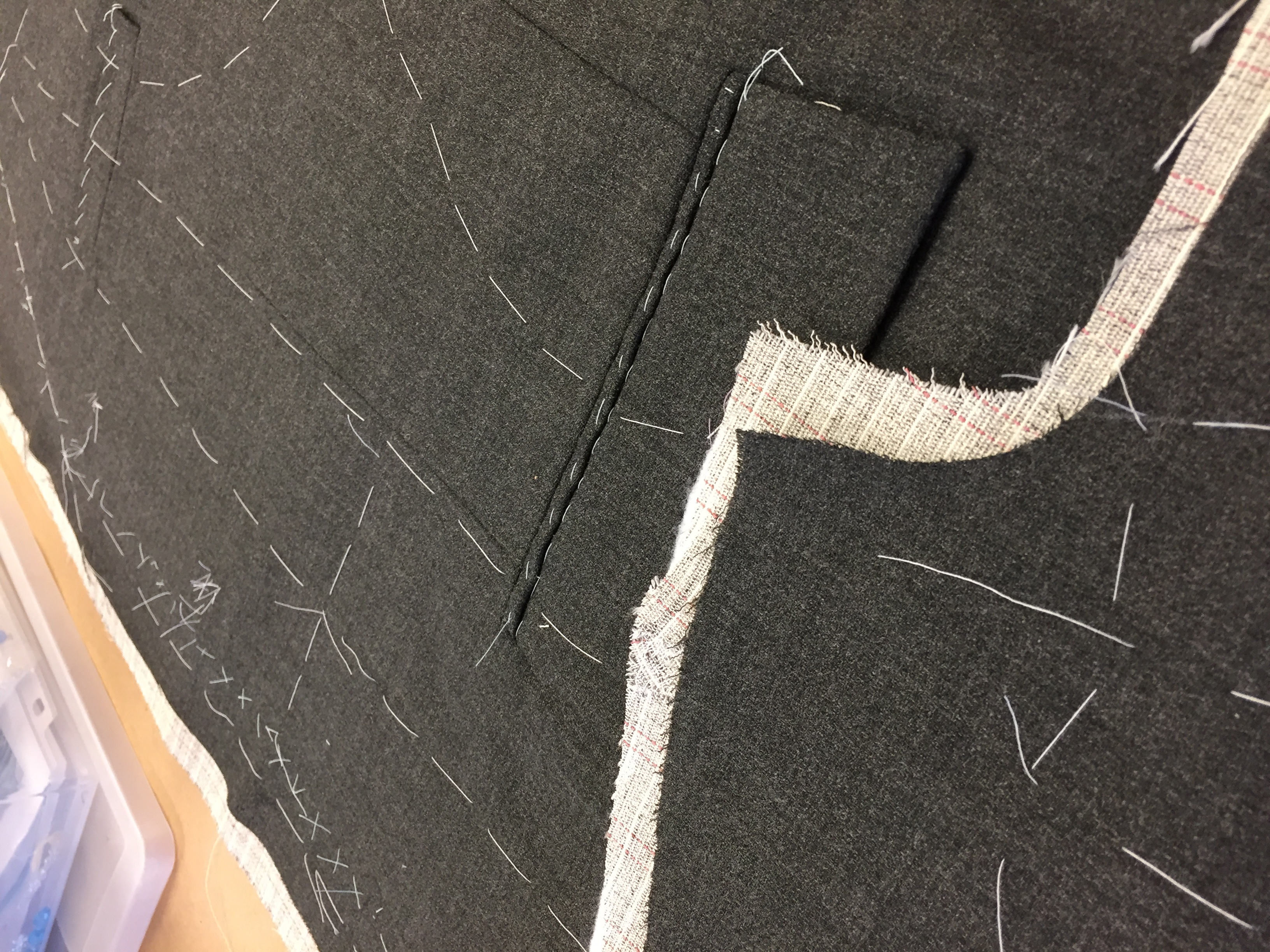 Coat Fronts in Process