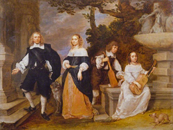 Gonzales Coques - Family of Jan Baptista Anthoni