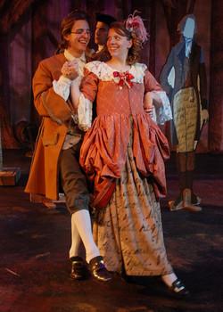 Ichabod Crane and Katrina Van Tassel