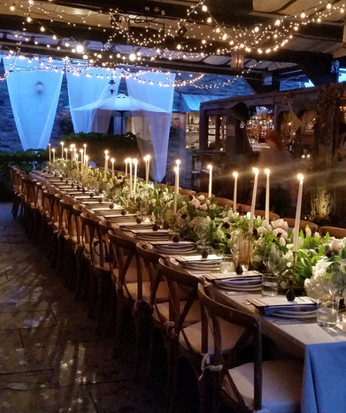 Long Tablescape Floral and Decor