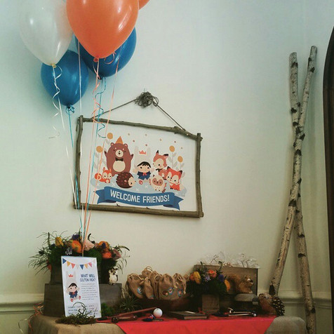 Woodland Themed Birthday