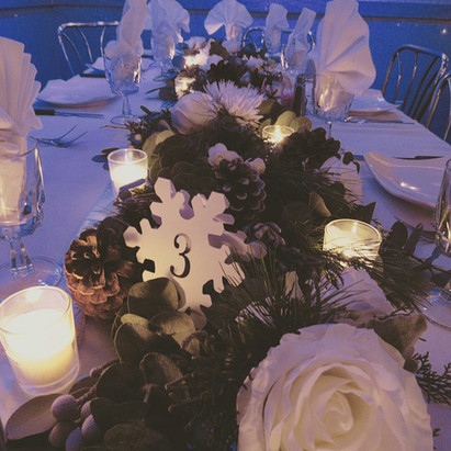 60th Birthday - Winter Themed Tablescape