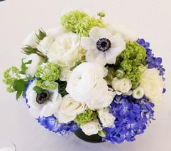 Blue White Green Centerpiece