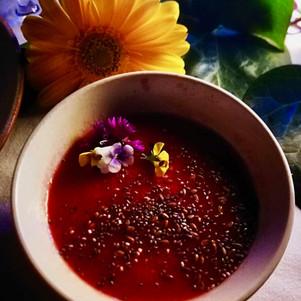 Crema de tomate con semillas