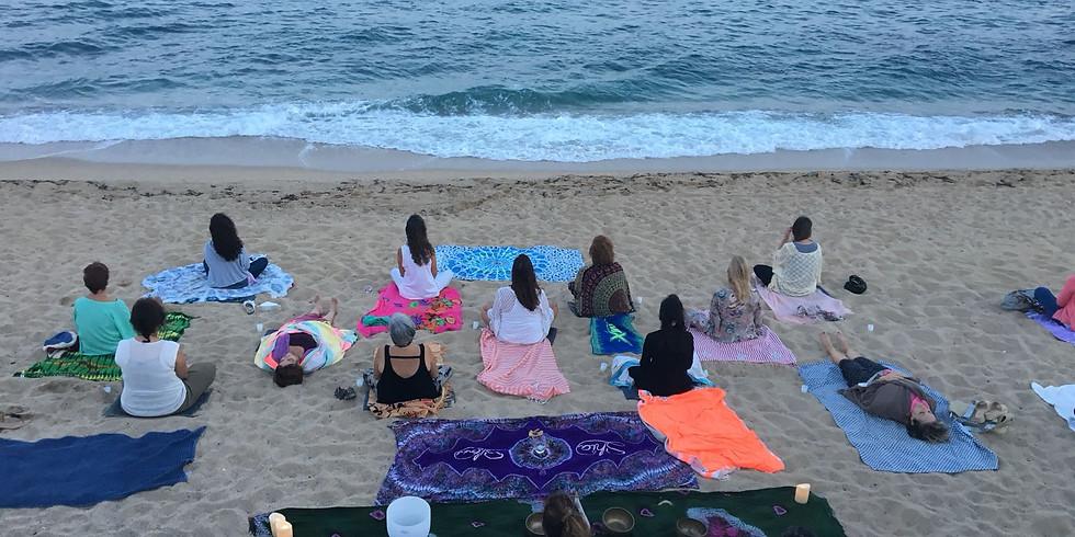 Cena con encanto en la playa y concierto de Cuencos Tibetanos 1 julio