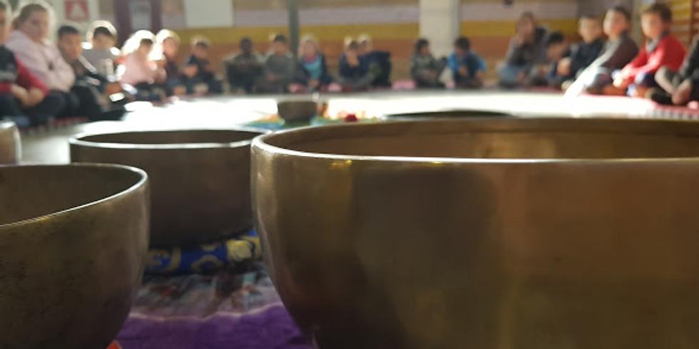 Niños, tarjeta regalo, Concierto cuencos tibetanos y merienda saludable