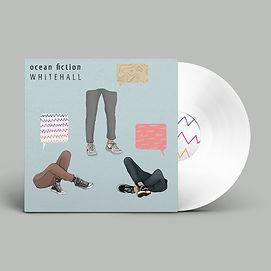 WHITE Vinyl Record PSD MockUp ocean fict