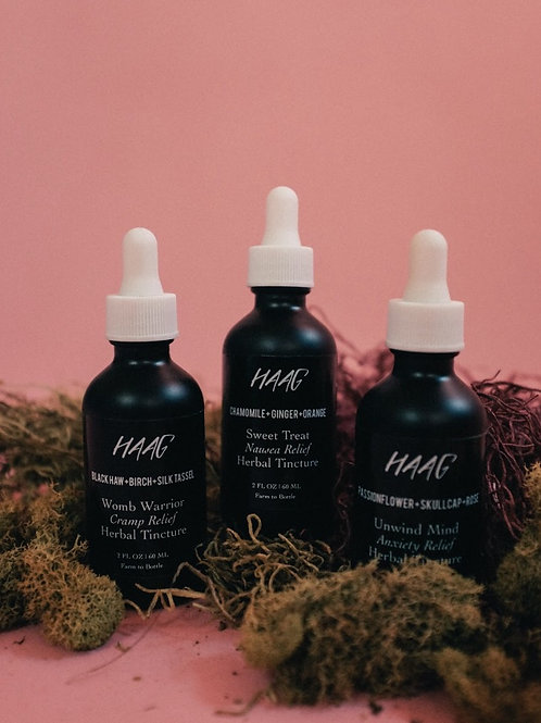 All Three HAAG Tinctures